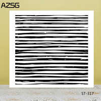 AZSG Striped background Clear Stamps For DIY Scrapbooking/Card Making/Album Decorative Silicon Stamp Crafts