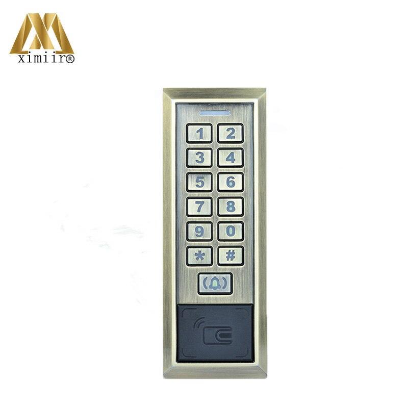 Système de contrôle D'accès par Carte À puce M601 Unique système de contrôle d'accès de porte Étanche lecteur de cartes Avec RFID Carte Porte de Sécurité