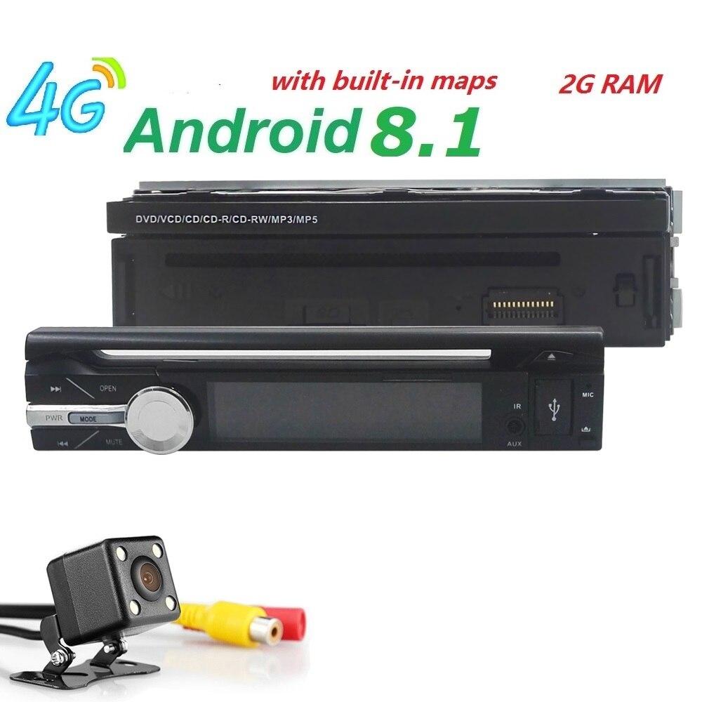 7 1din GPS AutoRadio Android 8.1 Car DVD Multimedia player for BMW Head unit AudioStereo gps Navigation Wifi BT 4G SWC OBD CD gps магнитолу 1din