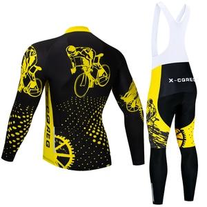 Image 2 - Men Winter Thermal Cycling Clothing 2020 Hot X CQREG Long Sleeve Cycling Jersey Set Ropa Ciclismo MTB Bike Maillot Bicycle Wear