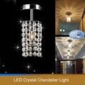 Fashion LED crystal ceiling lamp bedroom stainless steel Ceiling Lights led lamp  crystal led lustre light Ceiling Lights