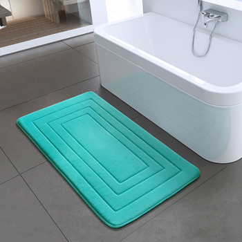 Non Slip Bath Mats and Shower Mats Made with Microriber Sponge and PVC Material for Bathroom Floor