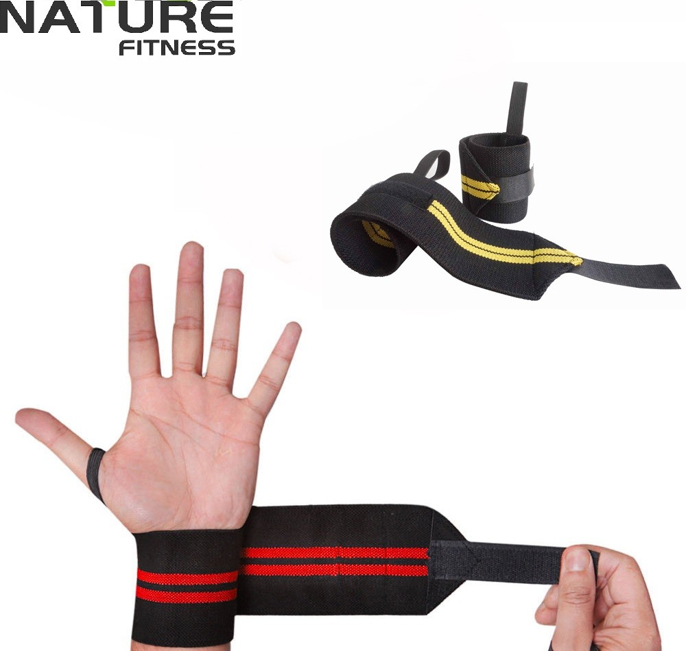 Nature Fitness Wrist Weightlifting Belt/Wrist Wraps Support Bandages - Fitness and Bodybuilding