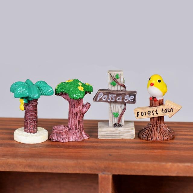 Wegweiser Zeichen Miniatur Fee Garten Hauser Dekoration Handwerk