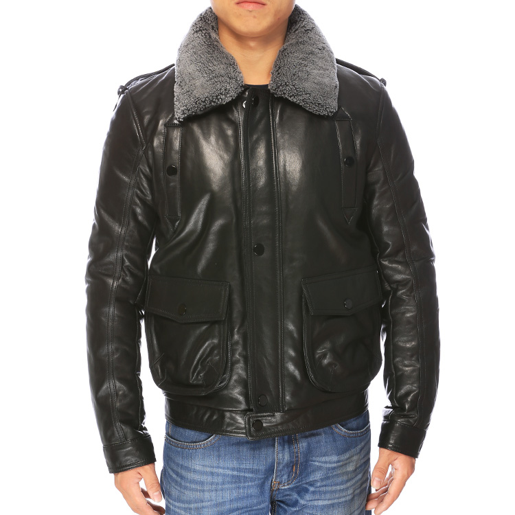 Compare Prices on Mens Real Leather Jacket Sale- Online Shopping ...