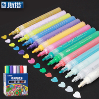 STA 2 3MM 14Pcs Set DIY Multifunction Waterproof Acrylic Painter Fluorescent Pen Candy Color Highlighter Marker