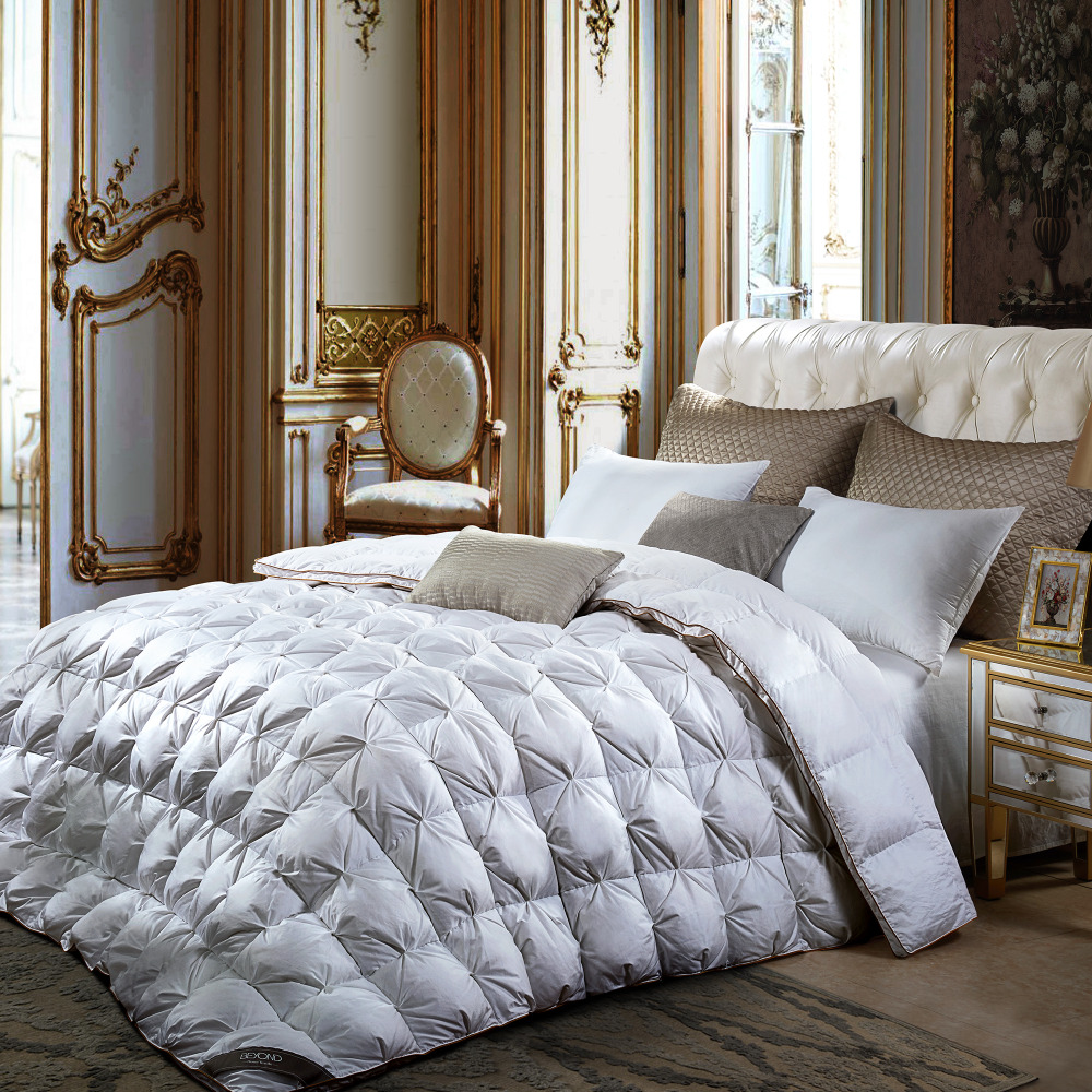 BEYOND 80S*50D High Quality Goose Down Comforter Queen