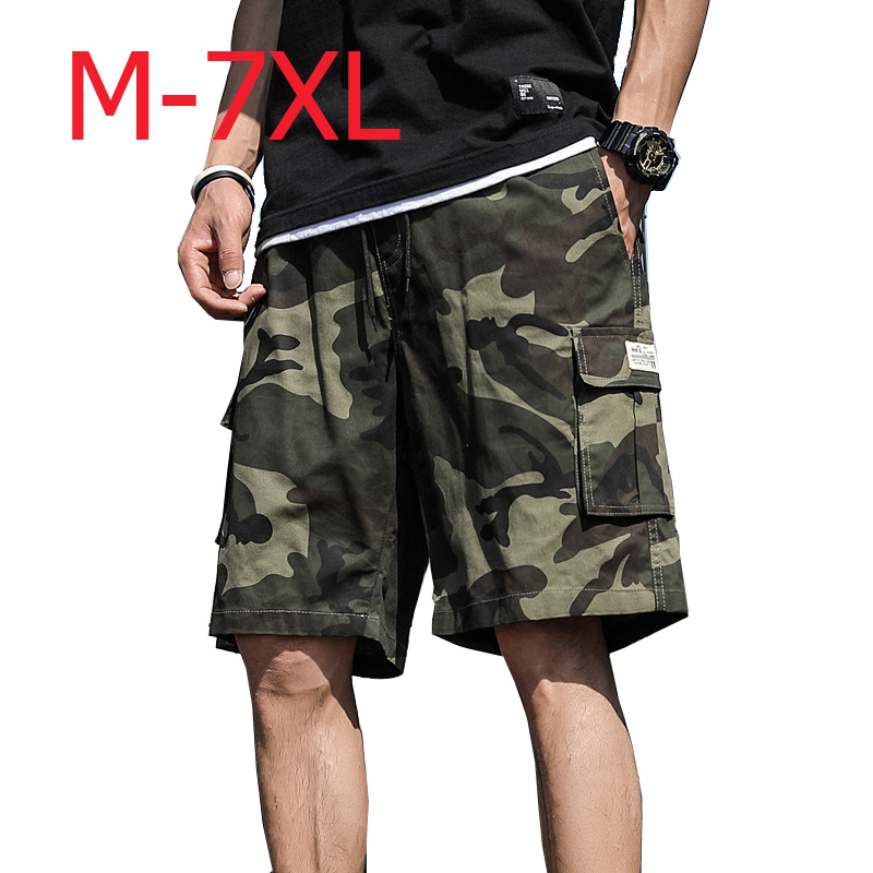 Mens Camouflage Military Cargo Shorts Summer Cotton Shorts Men Loose Multi-Pocket Shorts Homme Casual Bermuda Trousers ,GA346