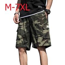 Mens Camouflage Military Cargo Shorts Summer Cotton Shorts Men Loose Multi-Pocket Shorts Homme Casual Bermuda Trousers ,GA346 drawstring side pocket bermuda shorts
