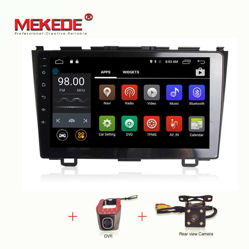 9'' 1024X600screen Quad Core Android 7.1 Car DVD Player For Honda CRV CR V 2006 2011 with 4G WiFi GPS Navigation Stereo Video