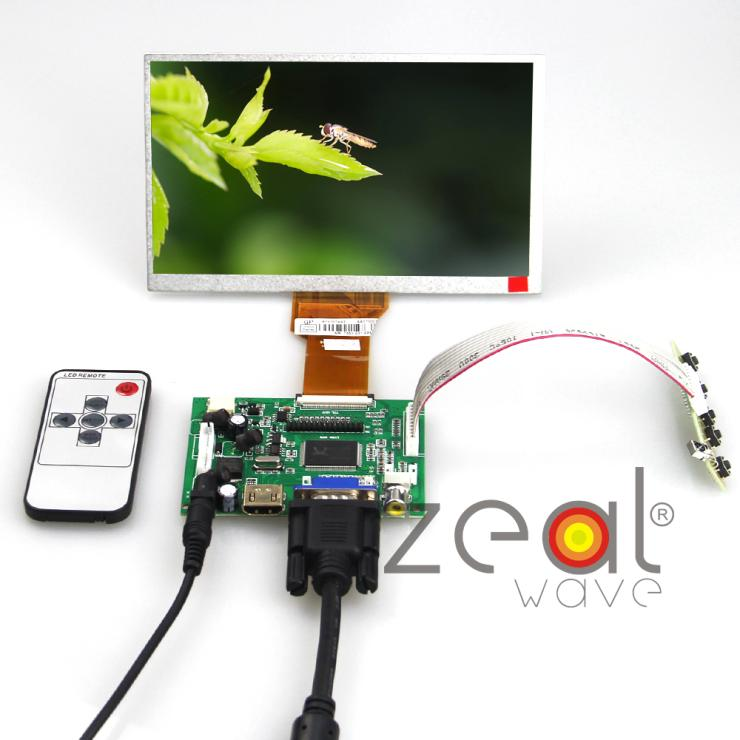 HDMI/VGA/AV Control Driver Board+7inch AT070TN90 AT070TN92 800x480 LCD Display For Raspberry Pi skylarpu hdmi vga control driver board 7inch at070tn90 800x480 lcd display touch screen for raspberry pi free shipping
