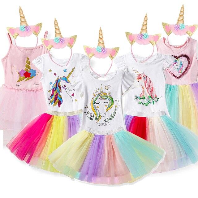 1ea779265c81f US $5.89 35% OFF|Aliexpress.com : Buy 2019 Girls Unicorn Dress 2pcs Easter  Kids Dresses For Girls Unicorn Party Clothing Toddlers Cosplay Princess ...