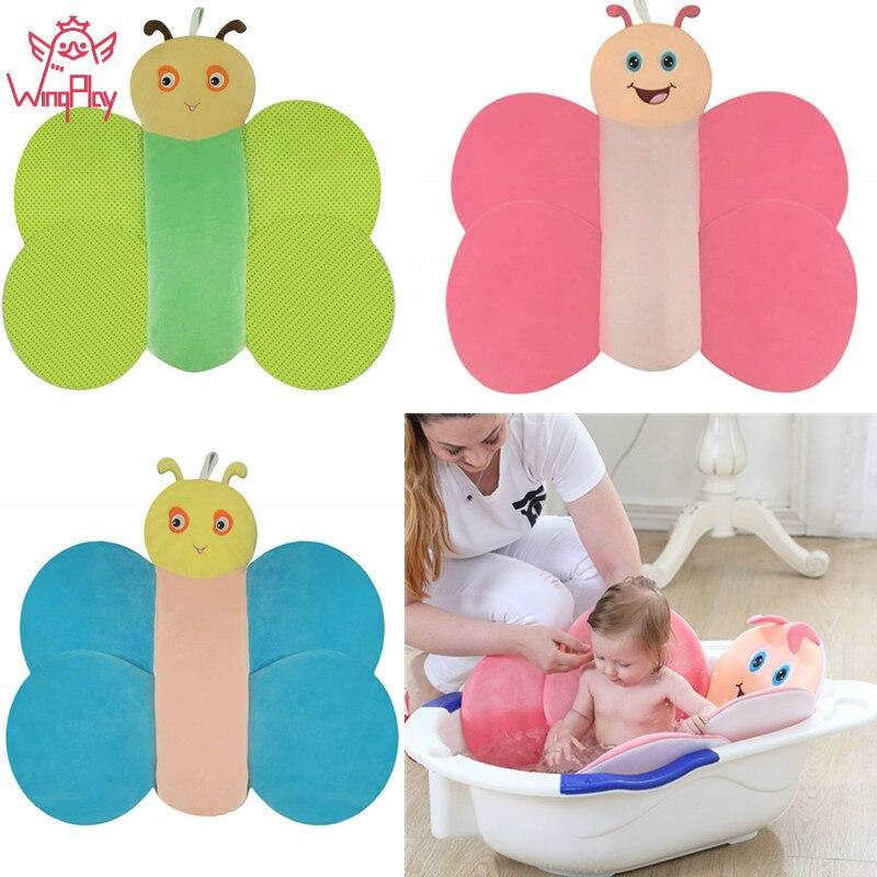 New Cute Animal Cartoon Baby Bath Cushion Newborn Tub Floral Foldable Pillow Non-Slip Bathtub Mat #C