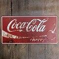 Americana Famosa Bebida Coca-cola! Placa del Carnet de conducir 15*30 Vintage Cartel de Chapa Decoración shabby Chic Metal Muestra Bar Cafetería Tienda de Garaje