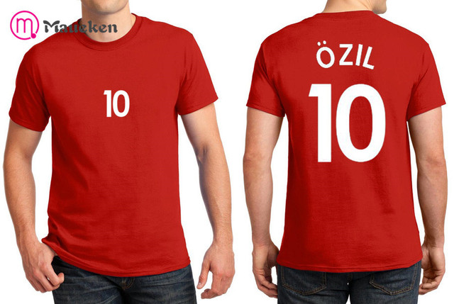 new product dc8e8 8cd4e US $9.99 |2018 Printed name Mesut ozil T Shirt Men Short Sleeve 100% cotton  O Neck T shirts for fans gift 0802 10-in T-Shirts from Men's Clothing on ...