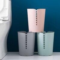 Trash Can Waste Bins Lidless Plastic Paper Basket Kitchen Living Room Bedroom Office Simple Rubbish Garbage Can Large|Waste Bins|Home & Garden -