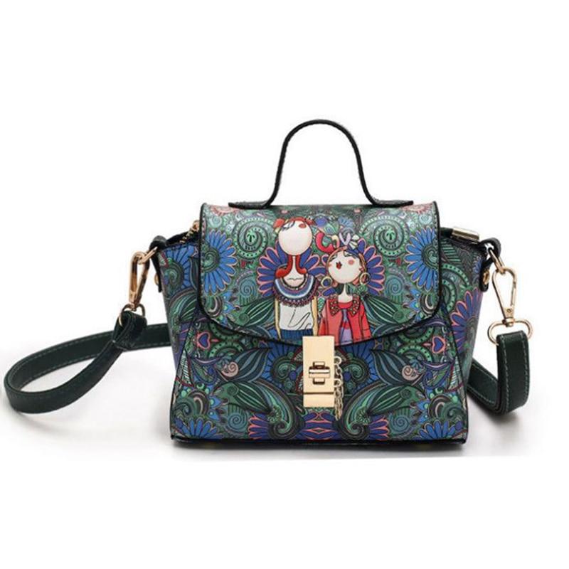Cartoon Frauen Messenger Bags Handtaschen 2017 Mode Pu-leder Wald - Handtaschen