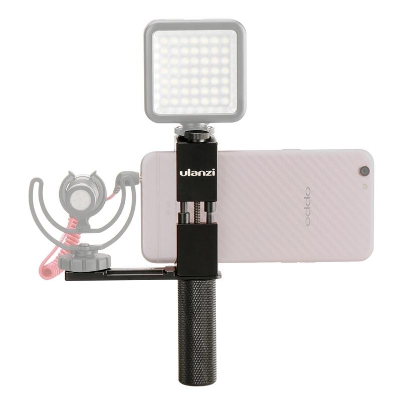 Ulanzi PT-1 комплект смартфон режиссер видео вышке металлические телефон Крепление для штатива с горячий башмак рукоятка держатель микрофона д…