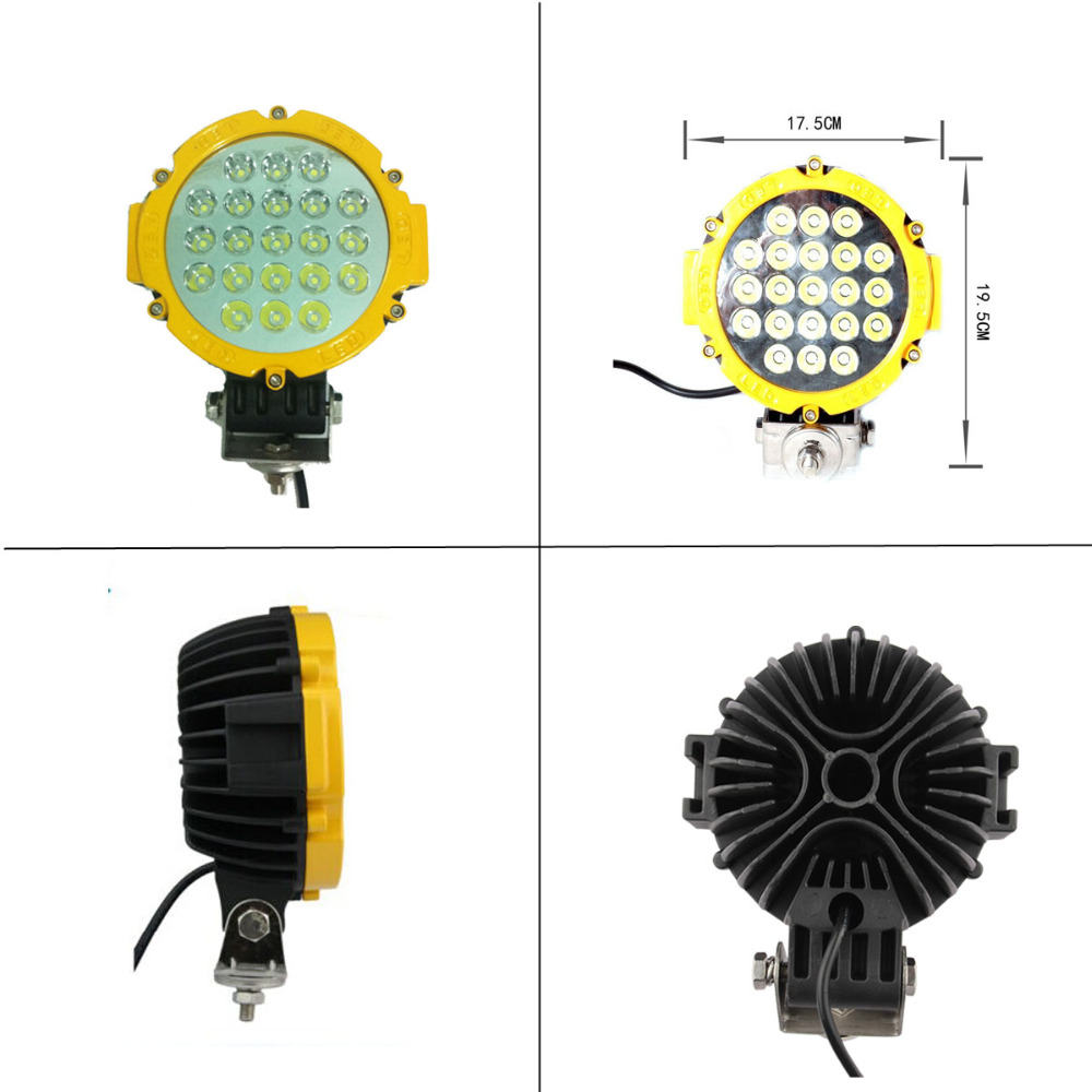 63W LED Work Light for Indicators Motorcycle Driving Offroad Boat Car Tractor Truck SUV ATV Flood/spot lamp 12V 24V ledtech 20w cree led work light 12v 24v 1700 lumen spot flood lamp for truck suv boat 4x4 4wd atv