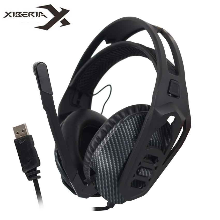 XIBERIA S16 USB Gaming Headset DIY Detachable Virtual 7.1 Surround Sound Stereo Bass Headphones with Microphone for PC Gamer pro usb jack 7 1 surround sound stereo bass game gaming gamer headset headphones with microphone volume control for pc computer