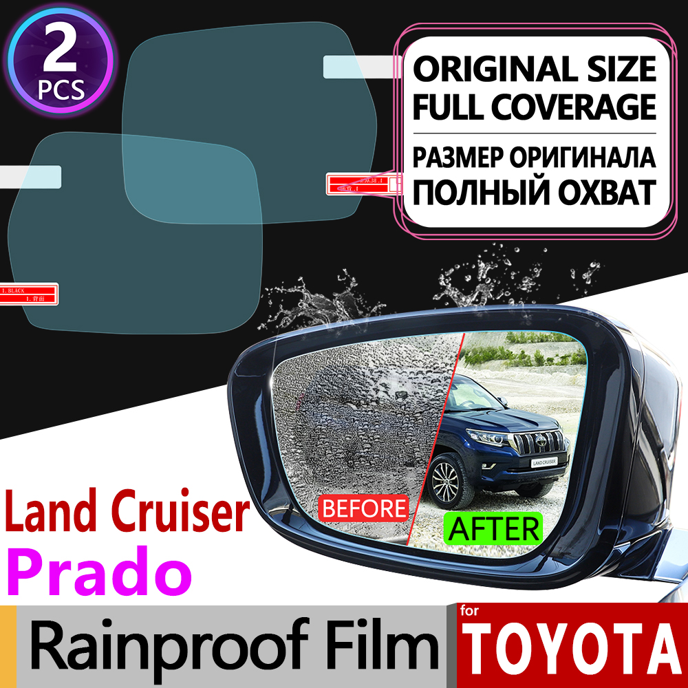 for <font><b>Toyota</b></font> Land Cruiser Prado 120 <font><b>150</b></font> 90 J90 J120 J150 2018 Anti Fog Film Rearview Mirror Rainproof Anti-Fog Films Accessories image