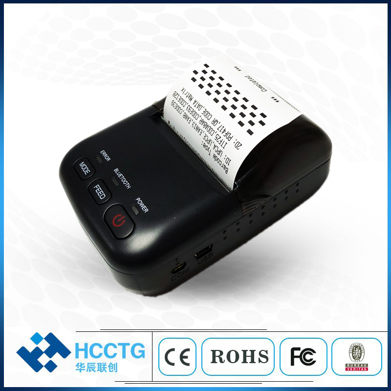 Mini Bluetooth Thermal Printer ticket receipt USB Portable Wireless Windows Android IOS Pocket small 58mm Printer HCC T12