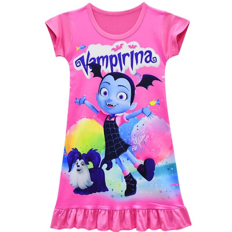 Vampirinas Cosplay Costumes Vampirina Dress And headband 2PCS Kids Party Dress