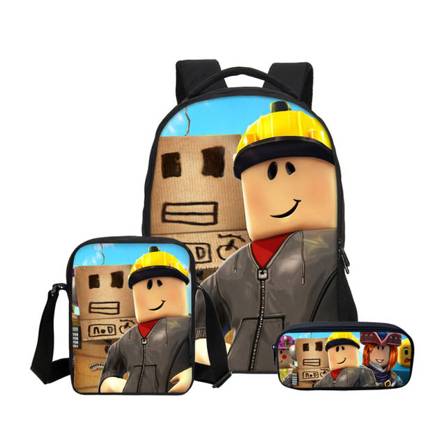 Online Shop VEEVANV Hot Cartoon Anime Roblox Backpacks pencil bag 3Pcs Set School  Bag for Teenage Boys Children kids bagpack Mochila Men Bag  39bfd6a7f850f
