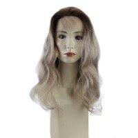 Pełna Połysk Ludzkie Koronki Przodu Peruka Ombre Kolor #4 Blaknięcie Do 18 Ash Blonde 100% Remy Ludzki Włos Ombre Koronki Przodu Peruka Z Dzieckiem włosy