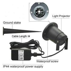 Image 4 - Su geçirmez Hareketli Kar Tanesi Lazer projektör ışık Yılbaşı Yeni Yıl LED Sahne Işığı Açık Kar Partisi Bahçe Peyzaj Lambası