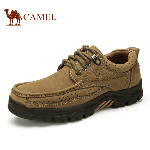 Camel casual shoes men scrub leather genuine leather shoes wearable belt  low shoes A632344300