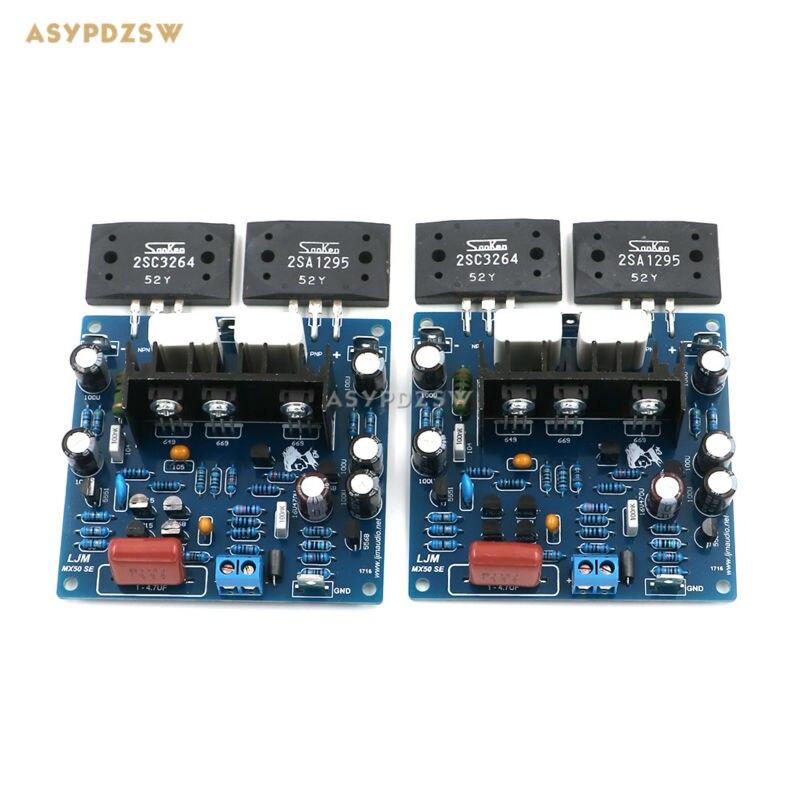 2PCS MX50 SE LAPT 2SA1295 2SC3264 Power font b Amplifier b font board Dual Channel power