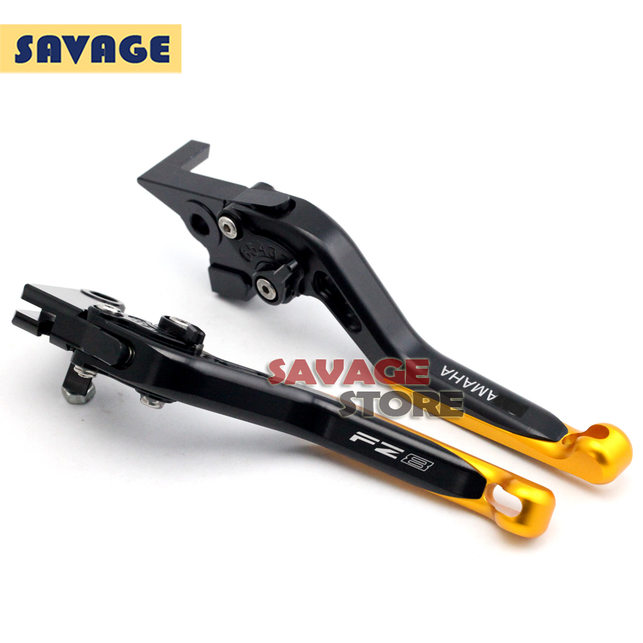 For YAMAHA FZ-8 FZ8 2010 2011 2012 2013 2014 Motorcycle Accessories CNC Aluminum Extendable Brake Clutch Levers Extending Gold for yamaha xt660x 2004 2014 xt660r 2004 2014 xt660z 2008 2014 motorcycle cnc aluminum easy pull clutch cable system