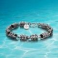 Estilo Hot!!! Thai pulseira 925 pulseiras de prata esterlina dos homens de prata dos homens; Homens corrente de prata esterlina pulseira