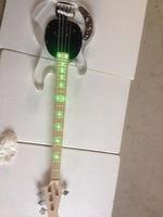 Electric guitar/Acrylic green light quality bass/anmiyue China Electric bass