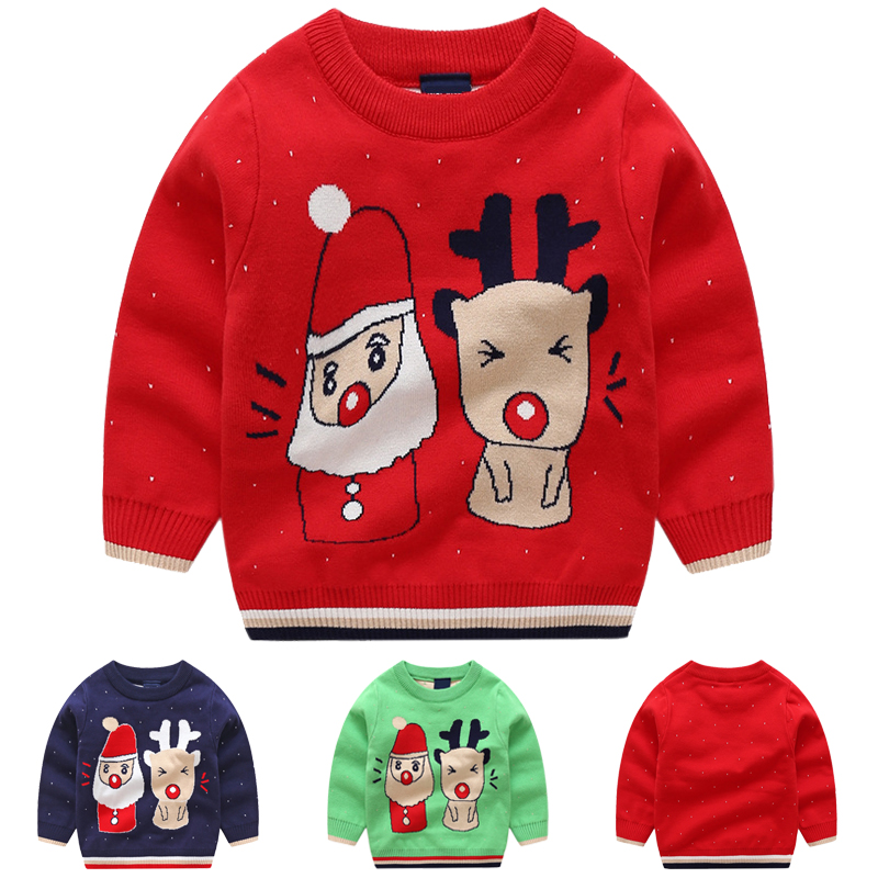 baby christmas sweater boys sweaters autumn 2018 cotton cute boy winter tops kids clothes knit pullover fall top for children kids winter clothes age for 2 8 years girl clothes thick warm baby pullover 2018 new autumn cute bow sweater back to school tops