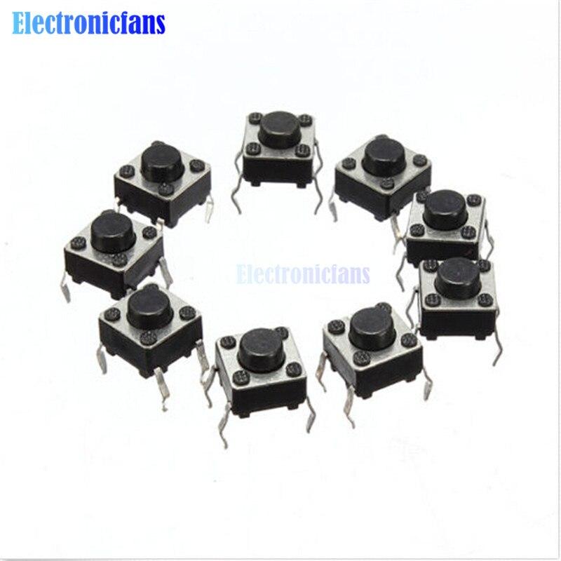 20Pcs Tactile Push Button Switch Tact Switch 6X6X4.3mm 4-pin DIP(China)