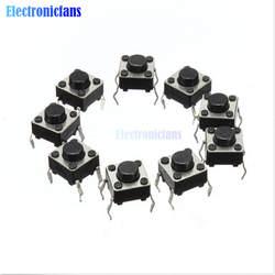 20 шт. Тактильные Кнопочный переключатель такт переключатель 6X6X4,3 мм 4-контактный DIP