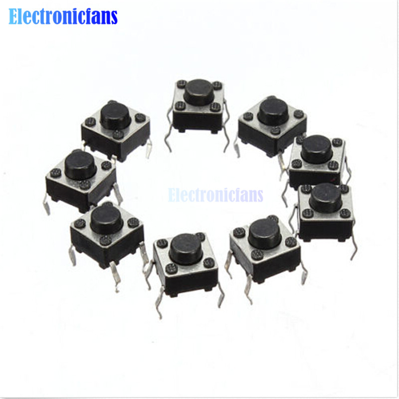 20Pcs Tactile Push Button Switch Tact Switch 6X6X4.3mm 4-pin DIP
