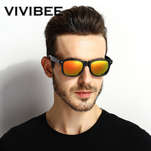 VIVIBEE Classic Black Frame Polarized Sunglasses for Men UV4