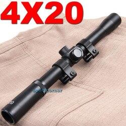 Caça sniper jogo de guerra tático marca 11mm montar produto de exportação 4x20 Rifle Âmbito Crosshair para. 22 calibre para a caça de airsoft