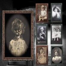 3D Ghost фоторамка украшения-ужастики для хеллоуина принадлежности для рукоделия девичник вечерние украшения тематическая вечеринка Хэллоуин реквизит