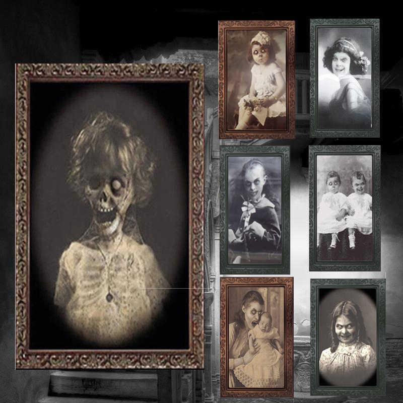 3D Picture Frame Decoração de Halloween Horror Fantasma Craft Supplies Bachelorette Party Decor Tema da Festa do Dia Das Bruxas Adereços 2019