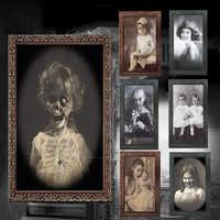 3D fantasma foto de decoración de Halloween Horror suministros de artesanía decoración para fiesta de despedida de soltera tema de Halloween fiesta 2019