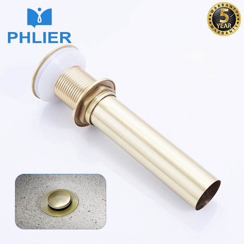 PHLIER Sink Stopper Brass Bathroom Lavatory Sink Pop Up Drain Vanity Vessel Sink Drain Plugs Without Overflow Bathroom Accessory