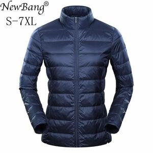 Image 1 - Marca NewBang 6xl 7XL 8XL Plus chaqueta ultraligera para mujer, chaqueta de plumón de pato, cortavientos y ligera, abrigos finos cálidos