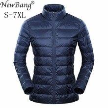 NewBang מותג 6xl 7XL 8XL בתוספת קל במיוחד למטה מעיל ברווז למטה נוצת רוח חם דק מעילים