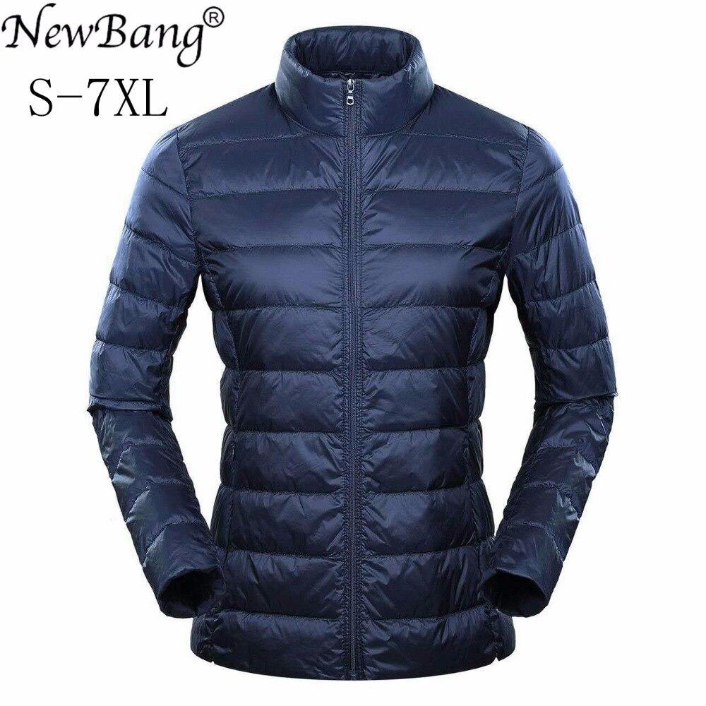 NewBang Brand 5xl 6xl 7XL Plus Ultra Light Down Jacket Women Duck Down Jacket Feather Lightweight Windbreaker Warm Thin Coats