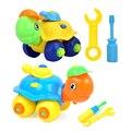 Los niños de simulación desmontaje pequeña tortuga rompecabezas de juguete de la venta caliente diy assemblage educativo pequeña tortuga juguete del rompecabezas de rompecabezas