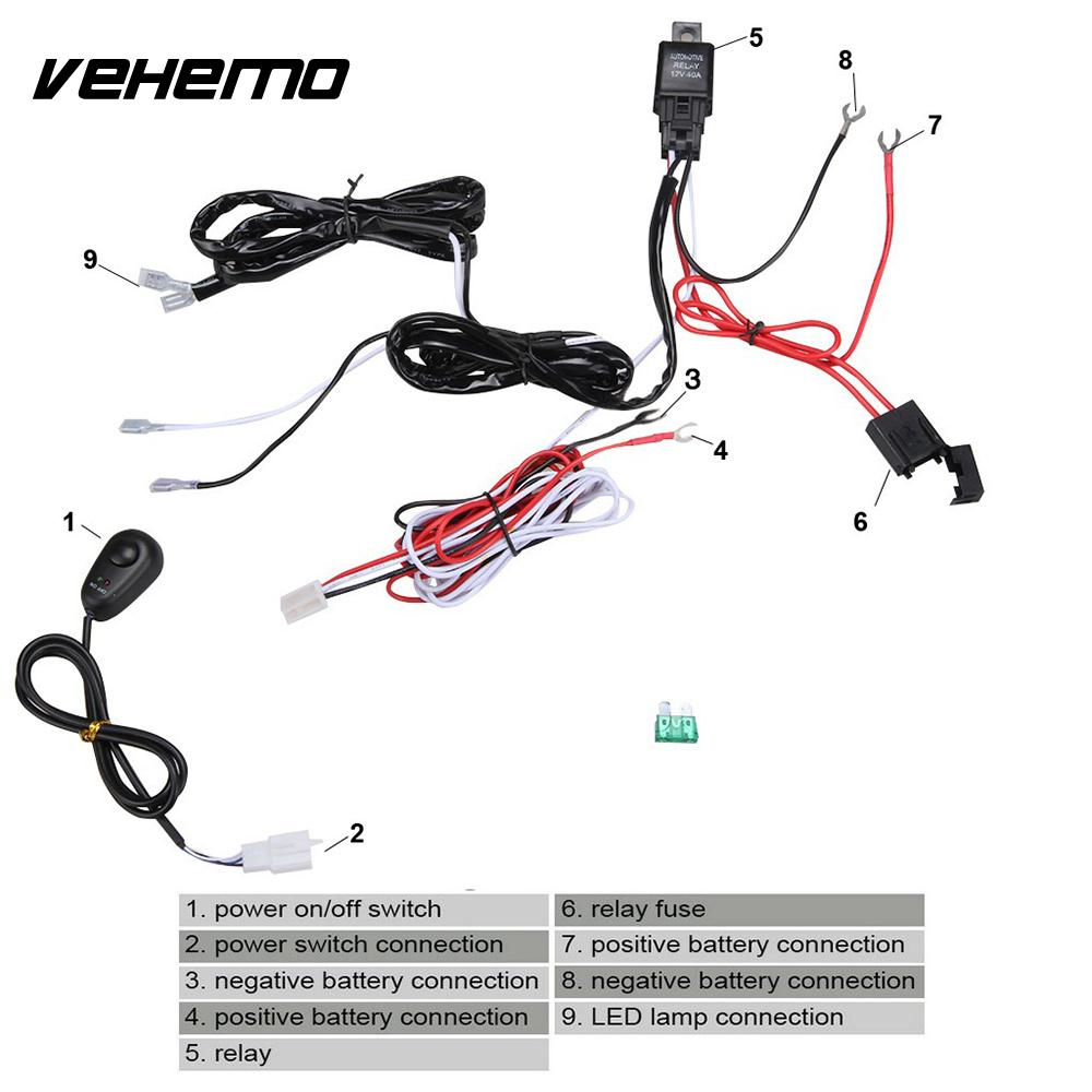 Vehemo Copper Line Fog Light Wiring Harness Kit Cable Line Set Professional  Headlight Wiring LED Work Driving Light-in Wire from Automobiles &  Motorcycles ...